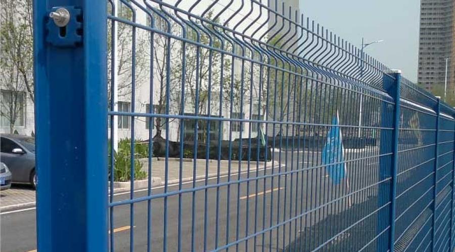 I型柱护栏网 三角折弯护栏网