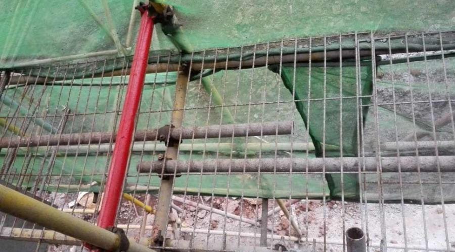 中建公司某某项目钢笆网片施工现场